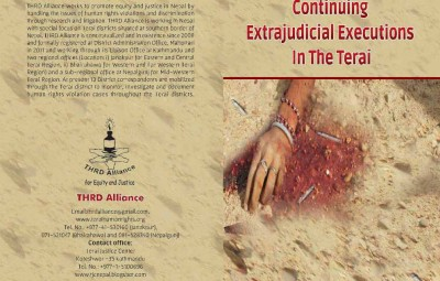 Continuing Extrajudicial Executions In The Terai Book Cover.FH11