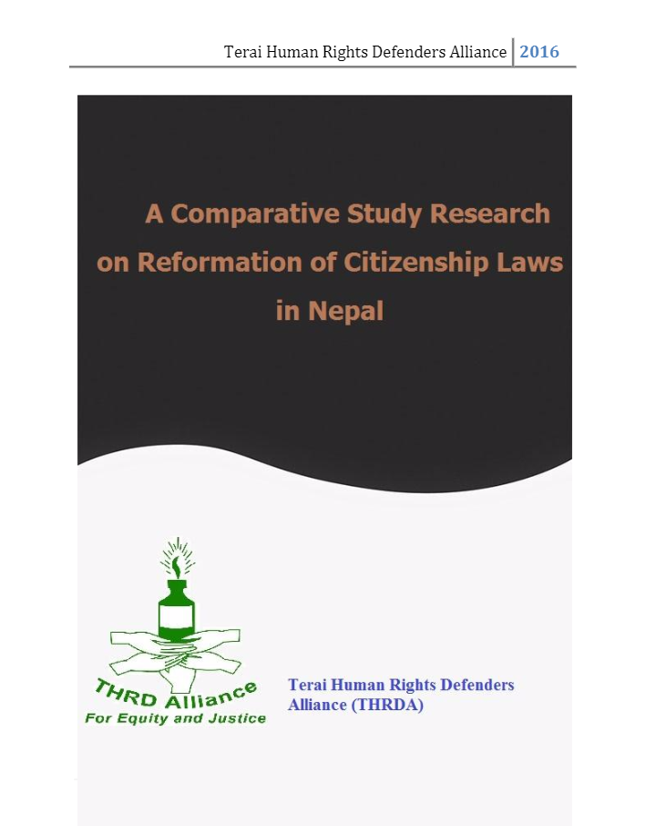 A Study on Reformation of Citizenship Laws in Nepal