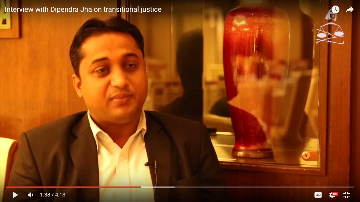 Interview with Dipendra Jha on Transitional Justice